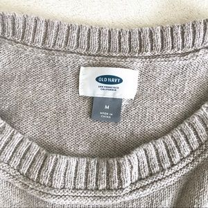 Old Navy Sweaters - Old Navy Women's Crew Cut Sweater - Stone Colored
